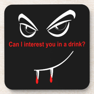 Drink With a Vampire Drink Coasters