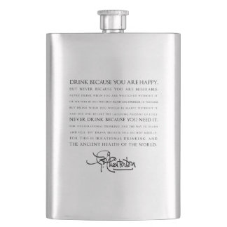 Drink ... You Are Happy—Chesterton Wisdom Flask