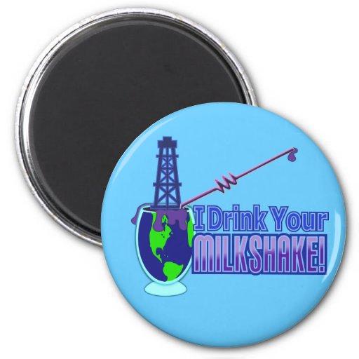 Drink Your Milkshake Design Magnet