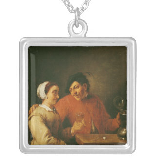 Drinkers Silver Plated Necklace
