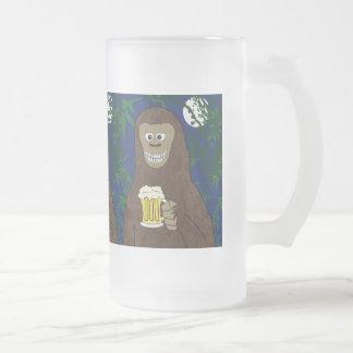 Drinkin' Bigfoot Frosted Glass Beer Mug