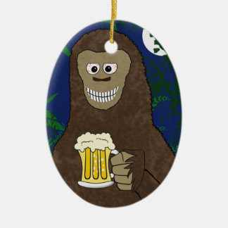 Drinkin Bigfoot Ornament (double sided)