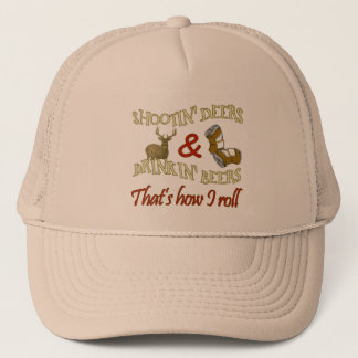 Drinking Beer & Shooting Deer Trucker Hat