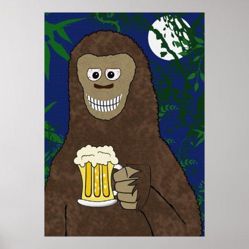 Drinking Bigfoot Print