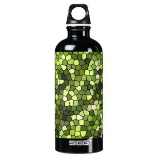 Drinking bottle green mosaic design