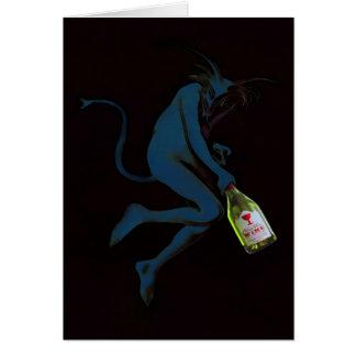 Drinking Devil - Card