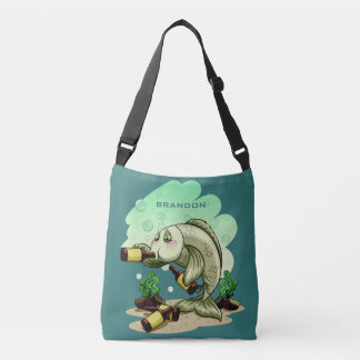 Drinking Fish custom name bags