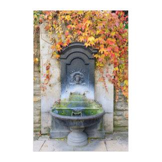 Drinking fountain in fall, Hungary Acrylic Print