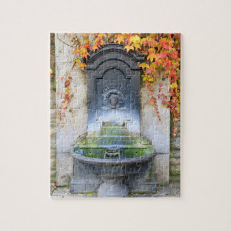 Drinking fountain in fall, Hungary Jigsaw Puzzle