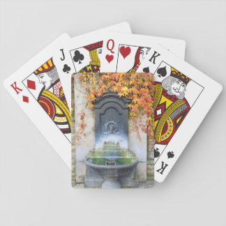 Drinking fountain in fall, Hungary Playing Cards