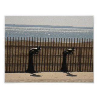 Drinking Fountains on The Boardwalk Poster