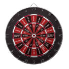 Drinking Game in Black and Red Dartboard