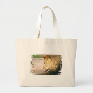 Drinking Lion Canvas Bag