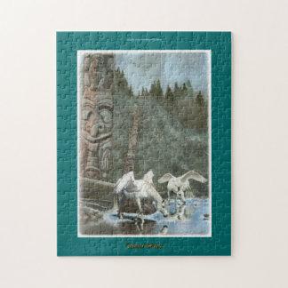 Drinking Pegasi & Totem Poles Fantasy Art Puzzle