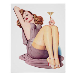 Drinking pin up poster