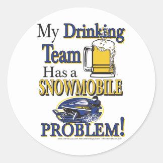 Drinking-Team-1-[Converted] Classic Round Sticker