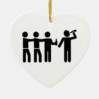 Drinking team ceramic ornament
