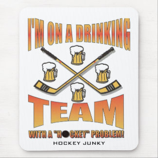 DRINKING TEAM MOUSE PAD