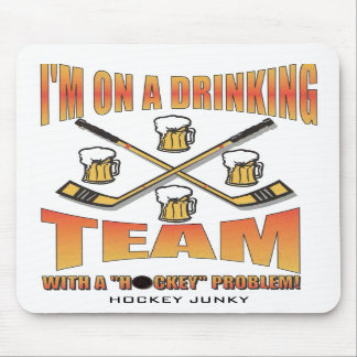 DRINKING TEAM MOUSE PADS
