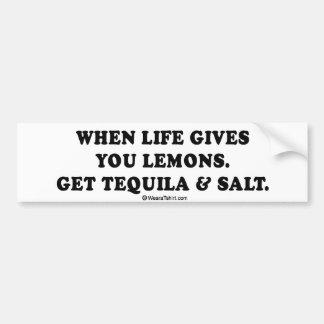 "Drinking Tee - ""Tequila and salt"" Bumper Sticker"
