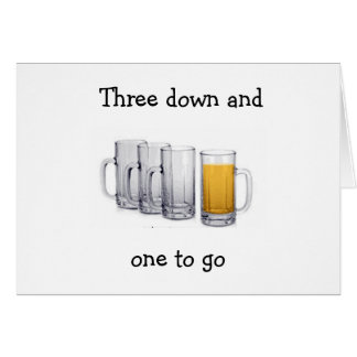 """""""DRINKING TO YOUR SUCCESS"""" GREETING CARD"""