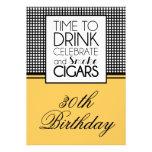 Drinks & Cigars Birthday Celebration Invitation