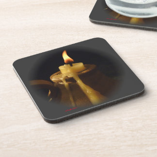 Drinks coasters - candle flame