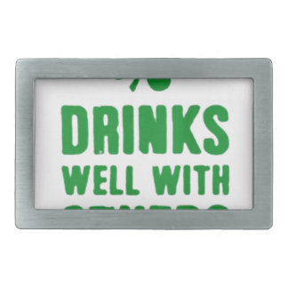 Drinks Well With Others Belt Buckle