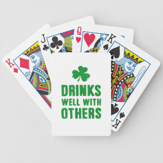 Drinks Well With Others Bicycle Playing Cards