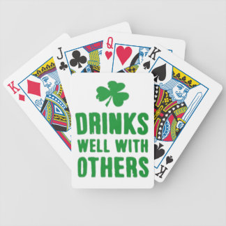 Drinks Well With Others St. Patrick's Day Tee Bicycle Playing Cards