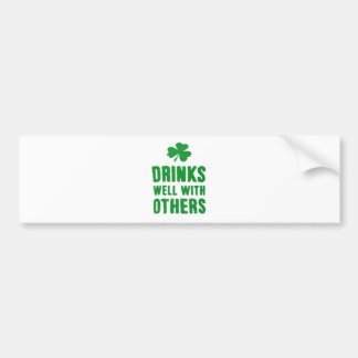 Drinks Well With Others St. Patrick's Day Tee Bumper Sticker