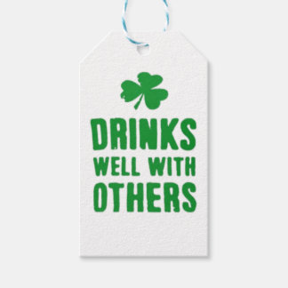 Drinks Well With Others St. Patrick's Day Tee Gift Tags