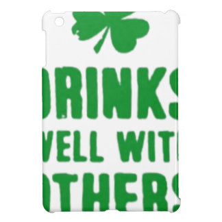 Drinks Well With Others St. Patrick's Day Tee iPad Mini Cover