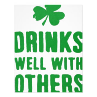Drinks Well With Others St. Patrick's Day Tee Letterhead