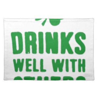 Drinks Well With Others St. Patrick's Day Tee Placemat