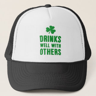 Drinks Well With Others St. Patrick's Day Tee Trucker Hat
