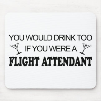 DrinkToo - Flight Attendant Mouse Pad