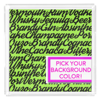 DrinkWords Customized Serving Tray - Pick A Color!