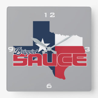 Drippin' Sauce Square Wall Clock