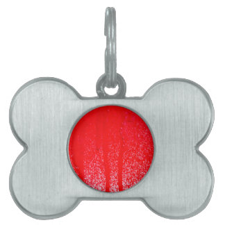 dripping blood pet tag