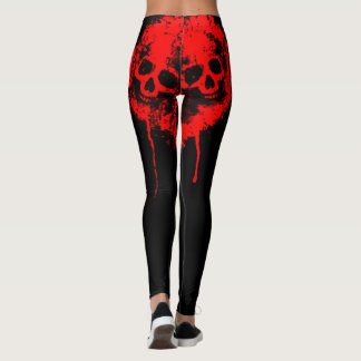 dripping blood skulls womens leggings