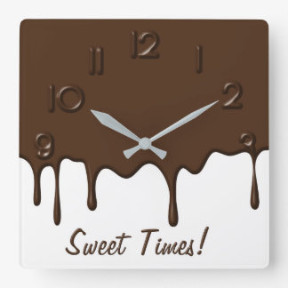 Dripping Chocolate - Wall Clock