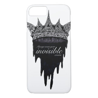 Dripping Crown with Text - v2 iPhone 7 Case