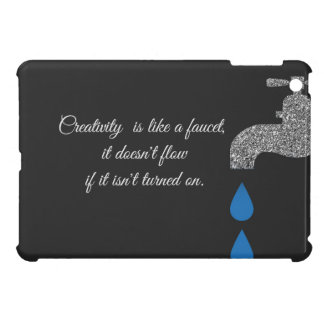 Dripping  faucet and water plumbing glitter effect iPad mini case