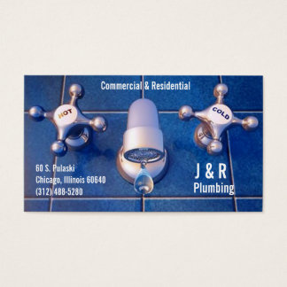 dripping faucet plumber business card