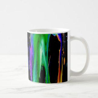Dripping Ink, colorful rainbow galaxy legging mug
