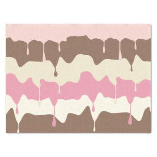 Dripping Neapolitan Ice Cream Tissue Paper