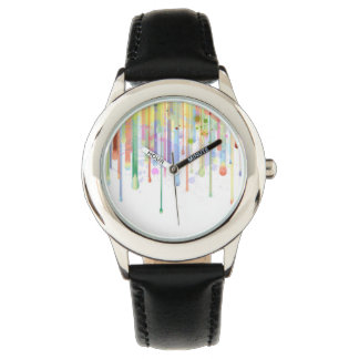 Dripping Paint Abstract Design Watch