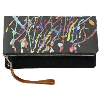 Dripping Paint Clutch Bag