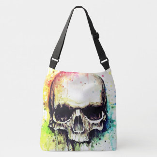 Dripping Skull Pop Over the Shoulder Unisex Tote